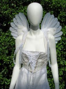 Thumbnail link to Upswept Cherub wings - small wings for children or adults