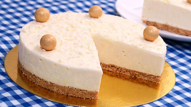 Tarta de Chocolate Blanco sin Horno!