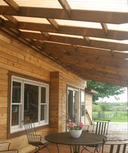 Instructions on how to build a deck roof