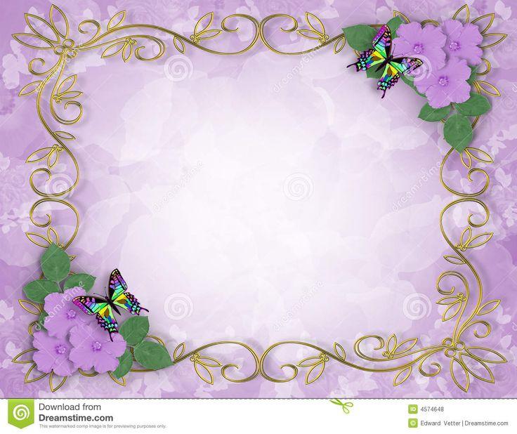 Lavender Background Wedding: 100 Best Images About Wedding Invitation Border/BG On