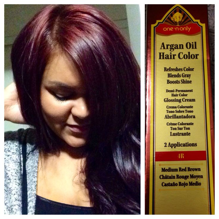 Yay For Fall Hair Color  One 39n Only Argan Oil Hair Color 4R With 30