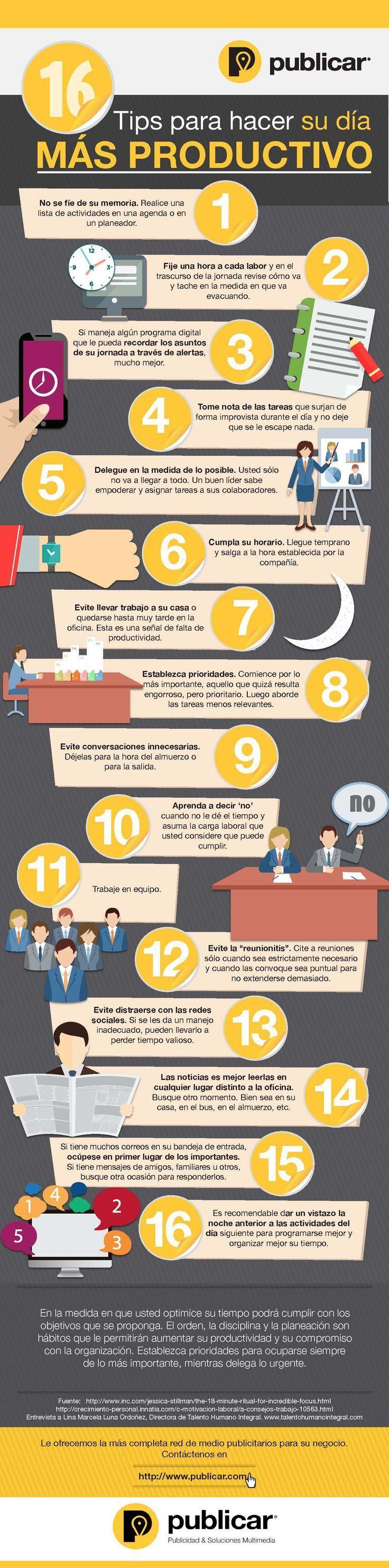 El ser más productivo durante su jornada laboral impactará los resultados de su empresa y le ayudará a aumentar las ventas.