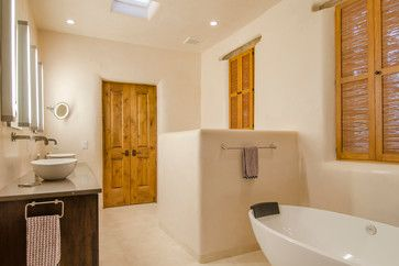 Historic Adobe Remodel - southwestern - Bathroom - Albuquerque - Madera Builders LLC
