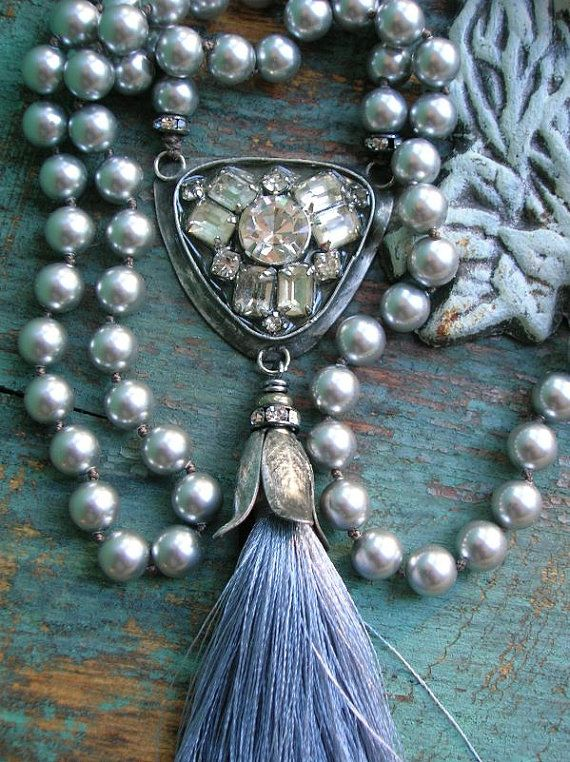Boho pearl statement necklace - Vintage Market