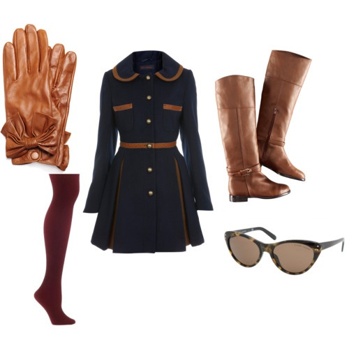 Navy and Brown | Navy, brown, Fashion, Fall looks