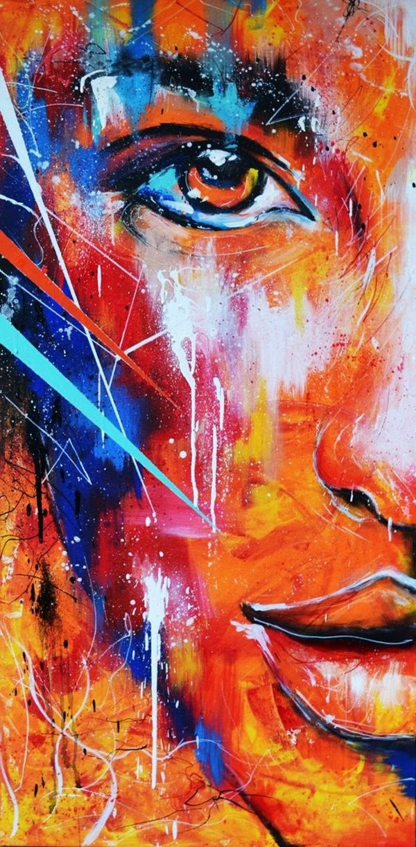 40 Artistic Abstract Painting Ideas For Beginners Abstract Portrait Painting Abstract Portrait Portrait Art