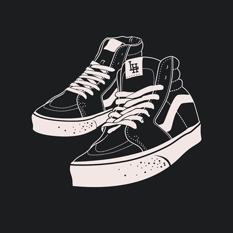 New one Vans sk8 hi #illustration #graphic #design #customdrawing #shoes #