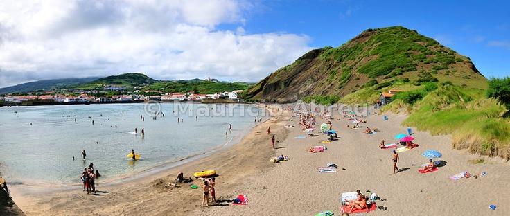 Beach of Porto Pim, Horta. Faial, Azores islands, Portugal
