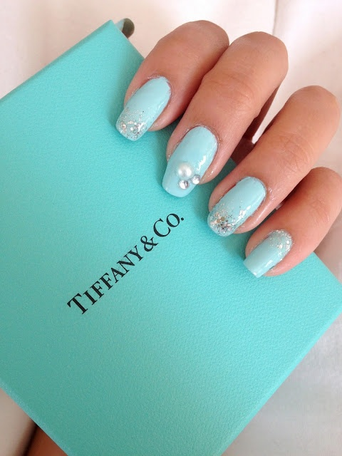 Tiffany And Co Inspired Nails Glam Hair Makeup Pinterest