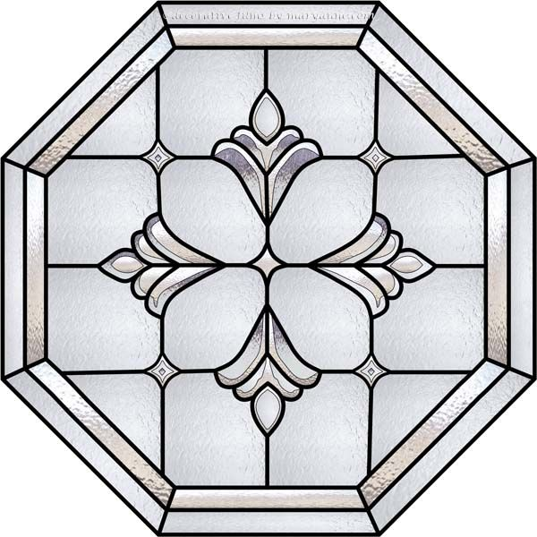 Stained Glass Window Film | Phillips-T Faux Privacy Stained Glass Clings and Window Films