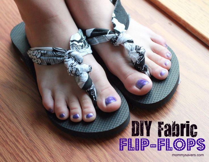 Kate Spade-Inspired DIY Fabric Flip-Flops for Just $3.50 - Mommysavers.com | Online Coupons & Savings