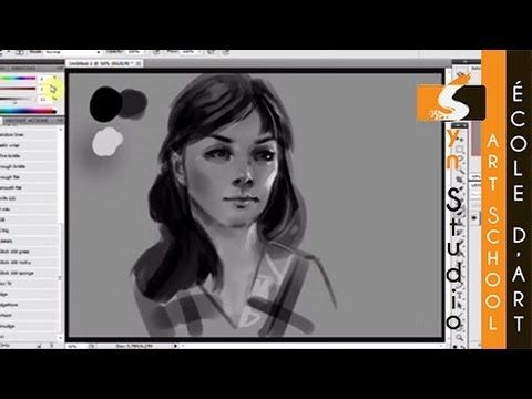 Syn Studio Digital Speed Painting Portrait (Quick Sketch) - Karolina