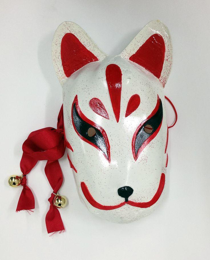 일본 여우가면 완성.