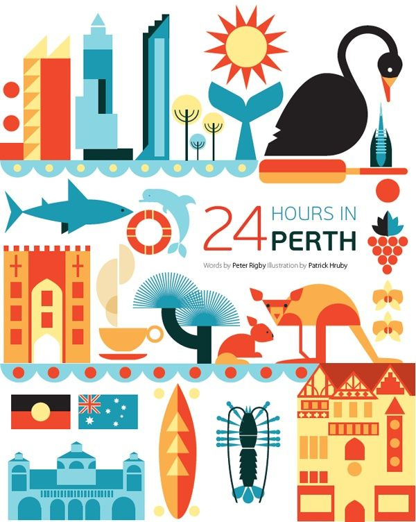 #Perth #Australia http://en.directrooms.com/hotels/subregion/5-43-253/ (World City Illustration by Patrick Hruby)