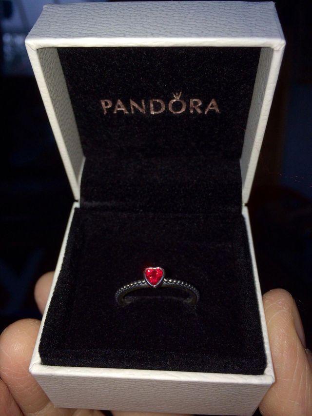 Bague coeur rubis rouge pandora❤️ | Pandora rings, Pandora ...