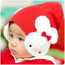 Gratuit de transport maritim copii copil băiat fată copii de iarnă palarie cald ureche Flap Beanie Cap croșetat iepure M01 (China (continentală))