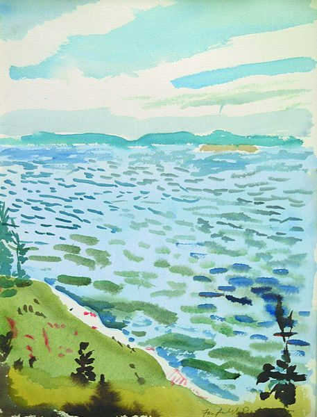 """North Point,"" Fairfield Porter, watercolor, 16 x 12"", private collection."