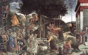 Scenes from the Life of Moses  by Sandro Botticelli (Alessandro Filipepi)
