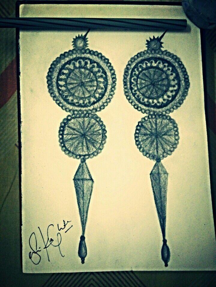 Mughal period inspired and self designed earrings :)