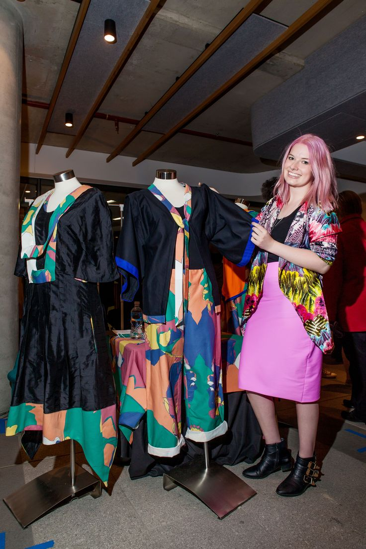 Canberra soon-to-be CIT fashion Graduate, Holly Squair with her label CHARACTER. Photo: Red Photography
