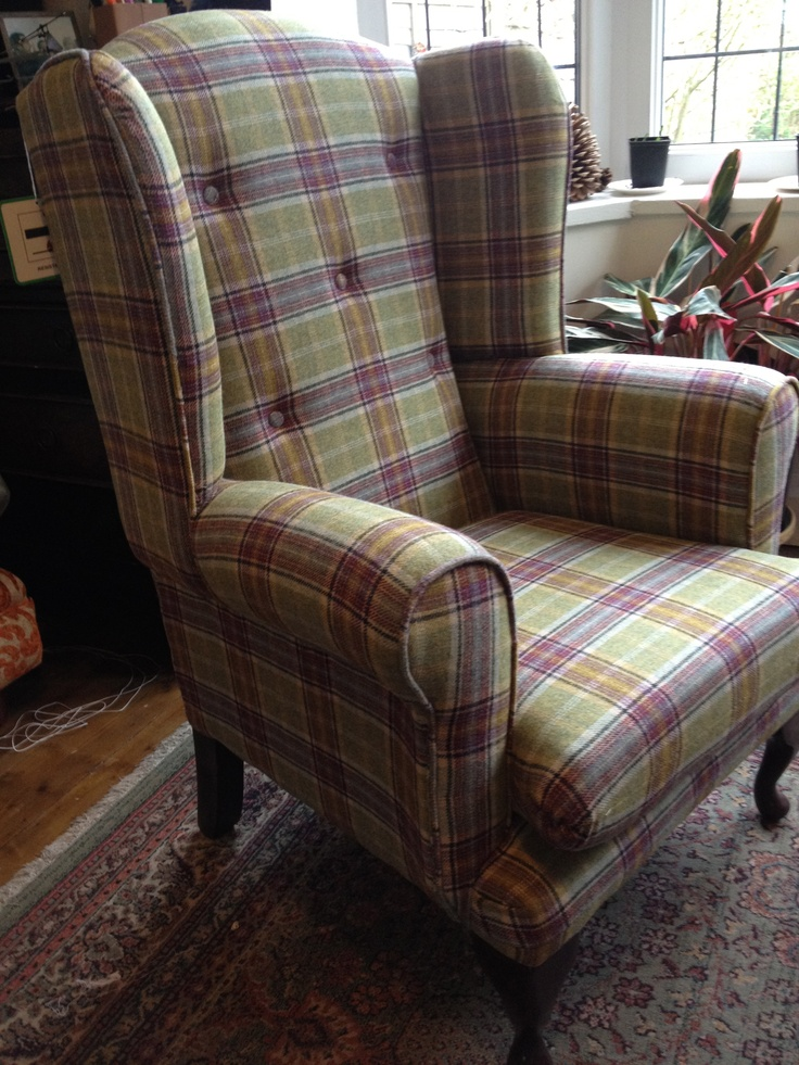 Delightful Fab Tartan Chair, Upholstered By LW.id