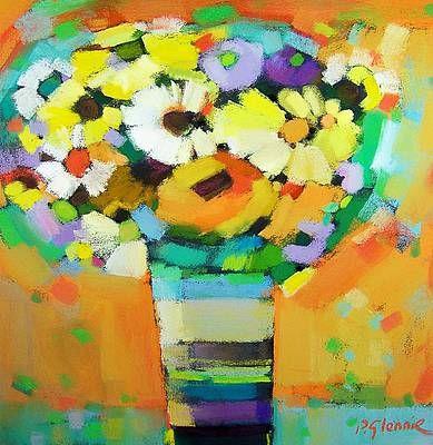 Scottish Artist Pam GLENNIE-Sunshine Arrangement