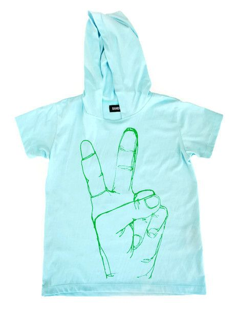 Bandit Kids Jellyfish Peace Love Hooded Tee available from A Little Bit of Cheek