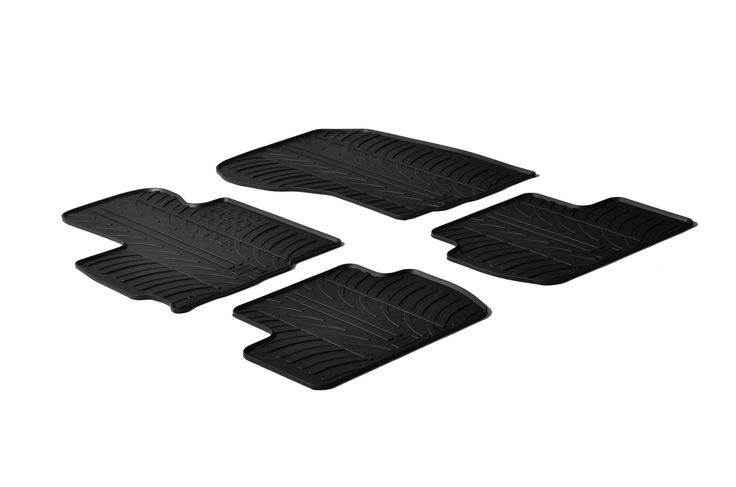 Gledring 2013-2016 Mitsubishi Outlander Custom Fit All Weather Floor Mats - Protect your car floor carpet with these custom molded rubber floor mats. This 4 piece set will cover the floor area for the front and rear seats. The rubber material will hold the floor mats in place. These mats also have holes for the factory floor anchors for an even more secure fitting. There is no trimming needed. Just set them in place and secure the front floor mat anchors in place. These heavy duty mats are…