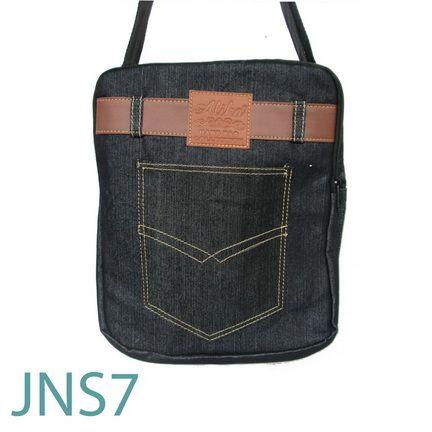 JNS 7, Tas Selempang Bahan Jeans.  Rp . 50.000