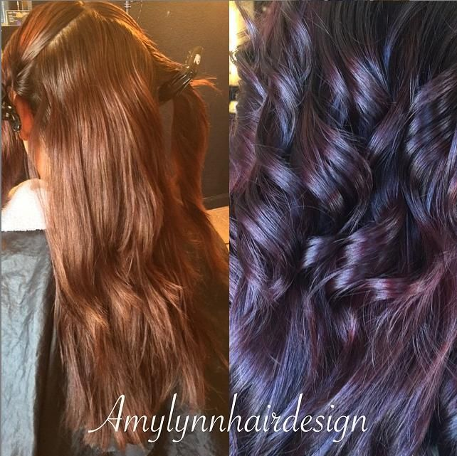 Awesome transformation by amylynnhairdesign using #kenracolor!! She used 3VR with a dab of Red Booster and twice the amount of Violet Booster. Processed 40 minutes. Styled with #KenraPlatinum #BlowDrySpray