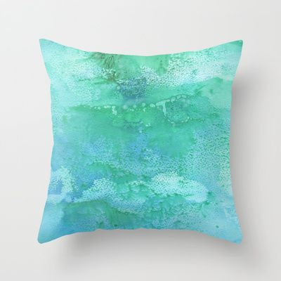 Laguna Blue Throw Pillow by Alina Sevchenko - $20.00