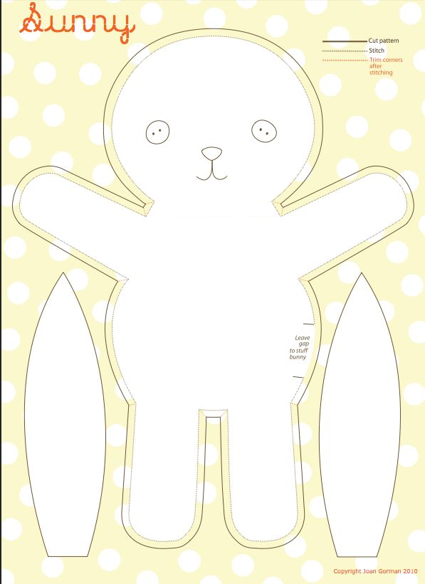DIY Sewing Bunny #diy #craft #sew