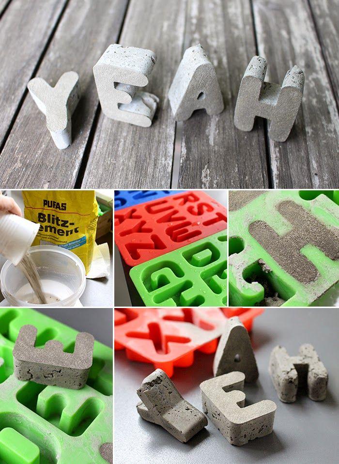 DIY, Beton, Buchstaben, Deko, Bloggeburtstag, Gewinnspiel,