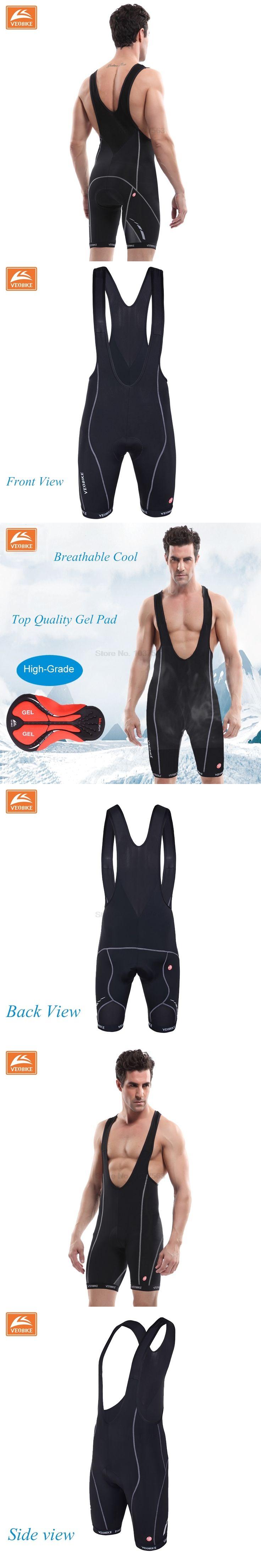 VEOBIKE Pro Team Ropa Ciclismo Men's Cycling Bib Shorts Pants Bicycle Bike Vest Shorts Clothing 3D Cushion Gel Pad Braces Tights