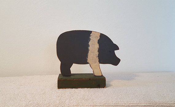 Check out this item in my Etsy shop https://www.etsy.com/listing/546310516/wood-hampshire-pig-folk-art-farmhouse
