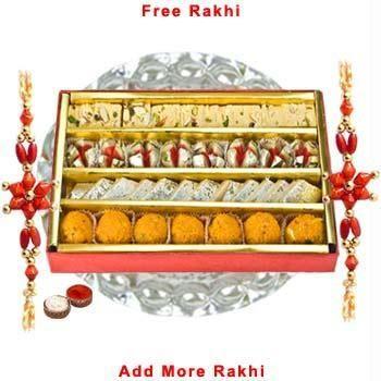 Looking for Haldiram's Assorted Sweets N Thali N Rakhi?  Buy it at Rs.490 from Rediff Shopping today! FREE Shipping  for Haldiram's Assorted Sweets N Thali N Rakhi & other  Rakhi.