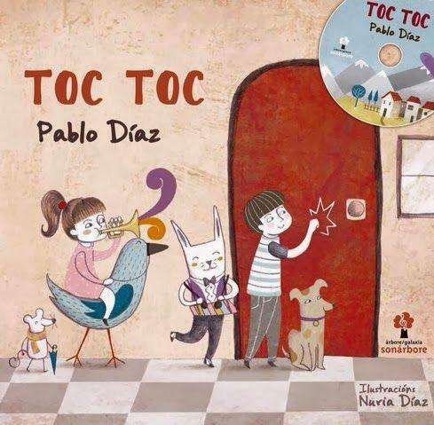 """""""TOC TOC"""": Un mollo de cancións de Pablo Díaz cheas de ledicia, ilusión, amizade e compañeirismo, onde non teñen cabida os malos rollos e si a defensa do medio ambiente, a protección dos animais e todas esas cousas que nos axudan a facer un mundo mellor."""