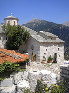 Monastery of Holy Mary at the Cave - Agrafa. More at http://www.blogtravels.gr/2012/08/moni-spilias-argithea/