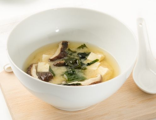 Miso-Suppe mit Shiitake-Pilzen