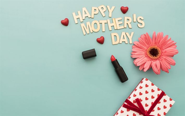 Download wallpapers Happy Mothers Day, international holiday, last Sunday in November, flowers, congratulations