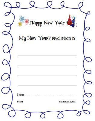 Happy New Year!- FREE printable