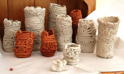 Definitely want to do for final the 6th Grade ceramics lesson.  coil pots by hello-julie, via Flickr