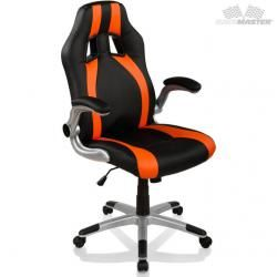 Kancelářská židle GT-Racer Stripes - černá/oranžová