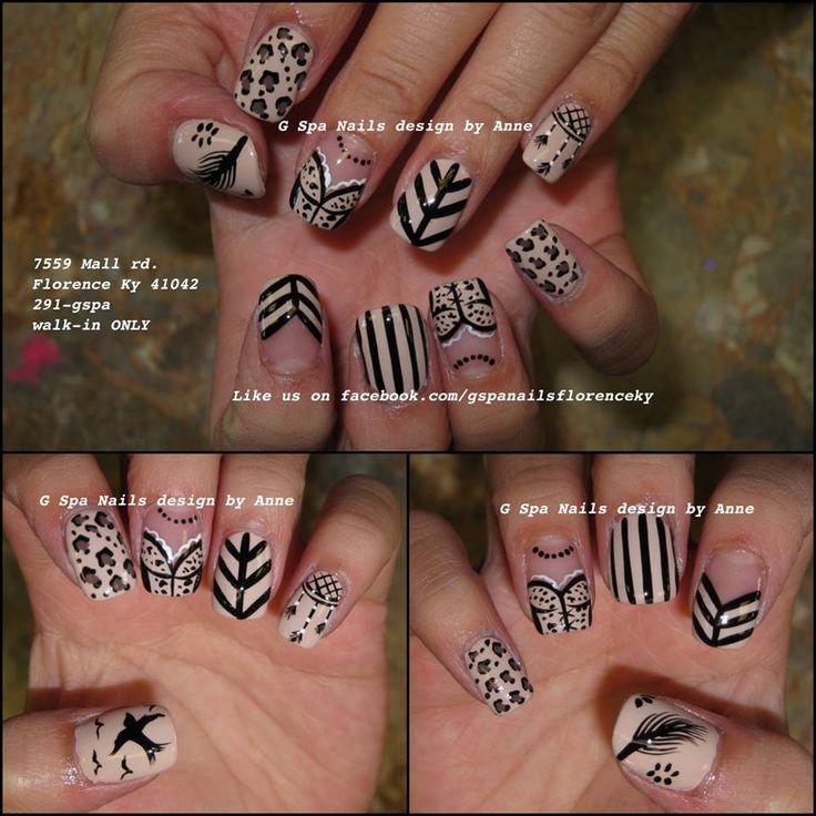 Hippie Style Nail Art ~ Hippiehippieshake nails boho bohemian hippie