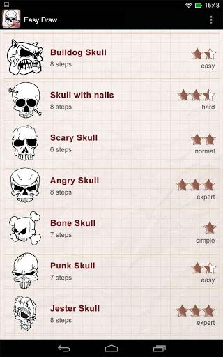 "With Easy Draw: Tatto Skulls Designs application you will draw Cow Skull Tattoo, Deer Skull Tattoo, Dragon Skull Tattoo, Fiery Skull Tattoo very easy and very similar to original.<p>""Easy Draw"" apps are developed to help people to draw some things that they really want to draw. All what you have to do is to get a proper app and to find an object you want to draw. It could be anything starting with drawing a flower, a tree, drawing a stick man and finishing even with such difficult drawings…"