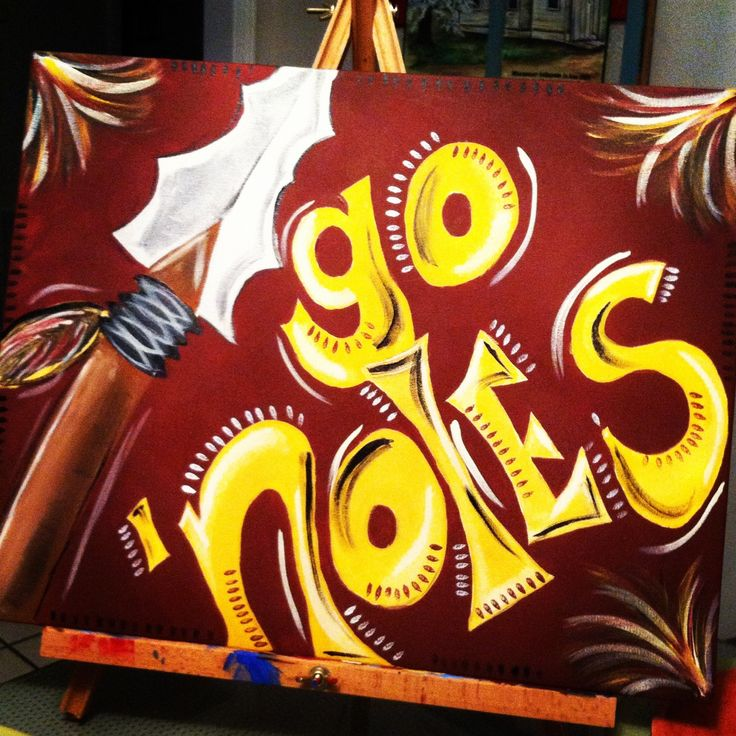 Awesome Florida State University painting! #FSU #gonoles #seminoles #art