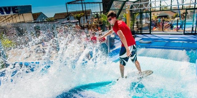 Practice your surf moves! Golden Coast Holiday Park https://www.campsitechatter.com/campsites/pinboard/Golden-Coast-Holiday-Park/5772209432021881217