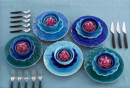 バタフライデザインの食器/テーブルセッティング