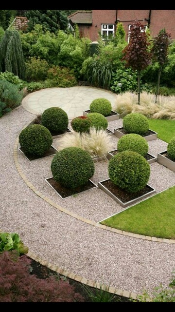 Like the use of rock/pea gravel it is more cost effective than poured concrete or stone paths...Like this