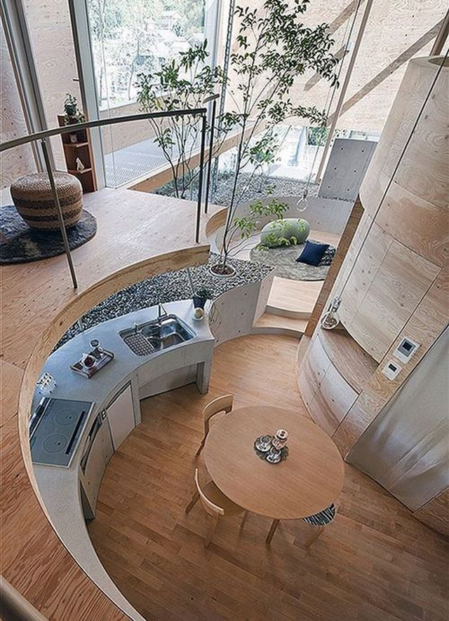 Aspect moderne et design dans cette cuisine